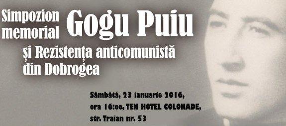 Eveniment Gogu Puiu. Eroul rezistentei anticomuniste din Dobrogea, evocat la Constanta.